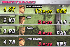 Tekken Advance - 12 wins survival  - User Screenshot